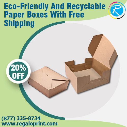 Eco-Friendly And Recyclable Paper Boxes With Free Shipping | RegaloPrint