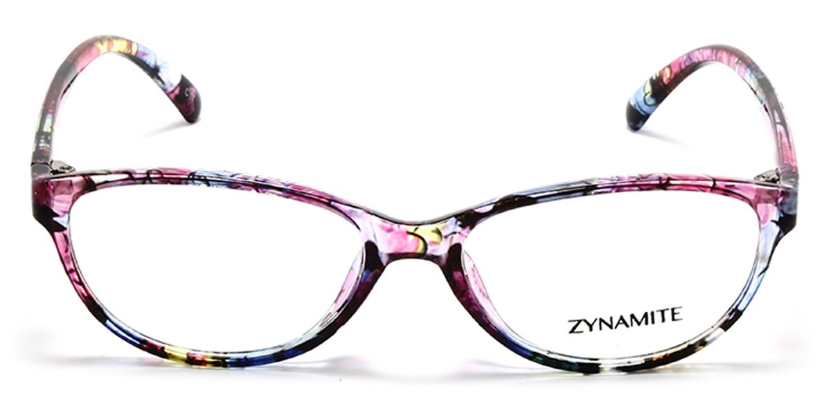 Oval Eyeglass for Women | Pink Camouflage Patterned Temples