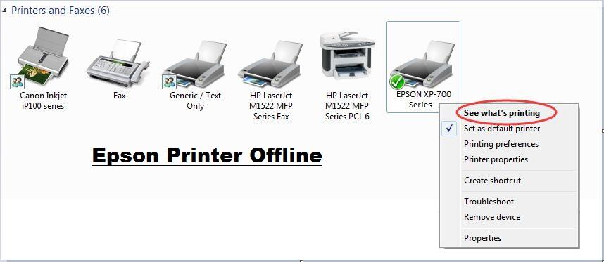 How to Fix Epson Printer Offline