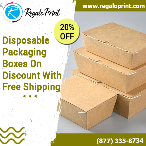 Disposable Packaging Boxes On 20% Discount With Free Shipping – RegaloPrint