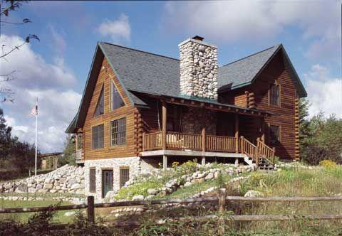 Pine Quarter Log Siding - The Log Home Shoppe