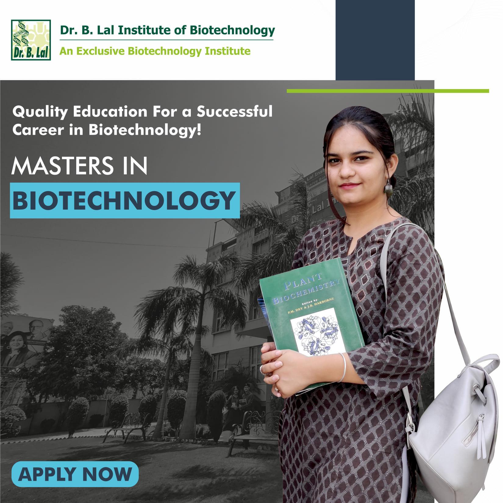 MSC Biotechnology Institute in Jaipur
