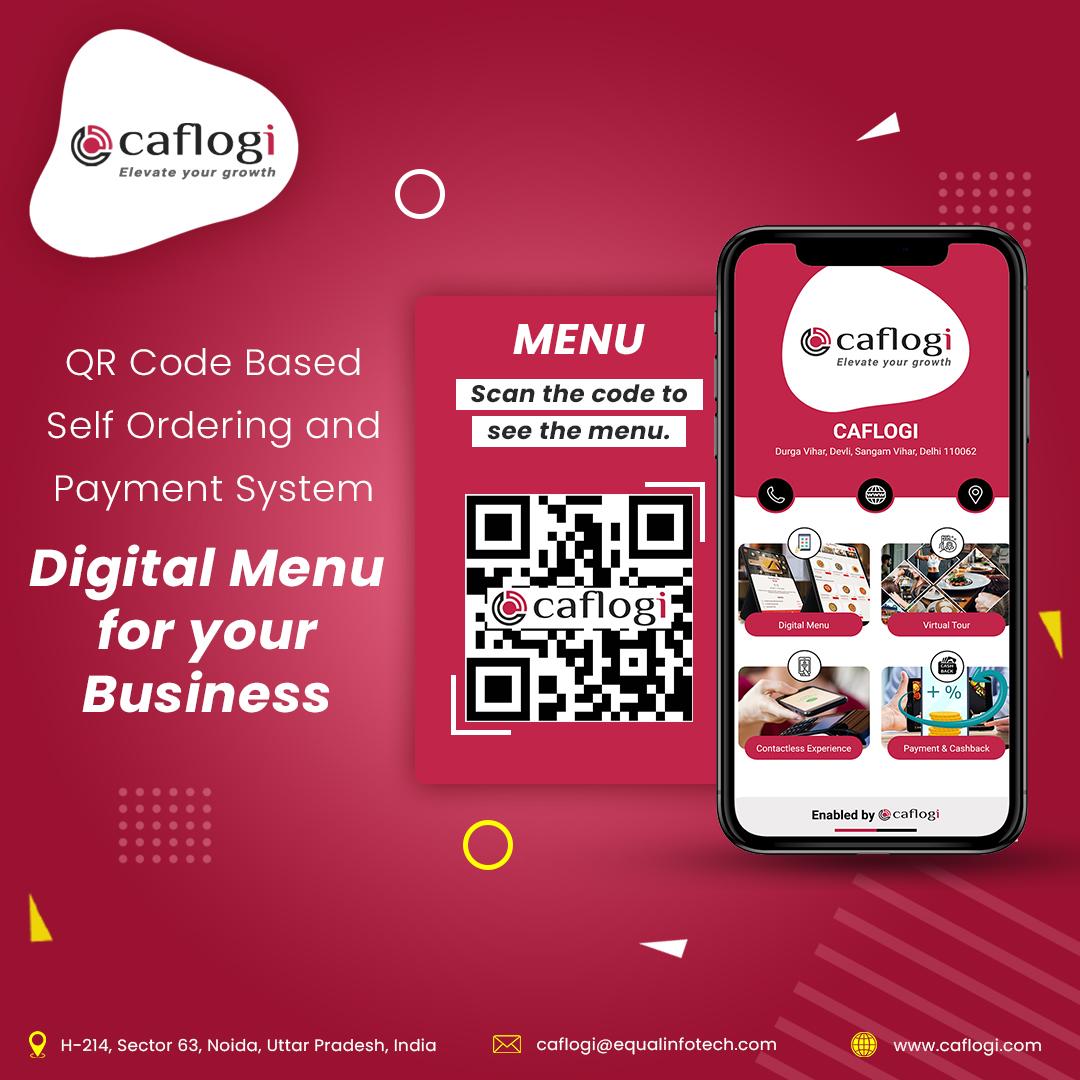 Get Connect & Upgrade Digital Menu QR Code for Restaurant in India! Caflogi