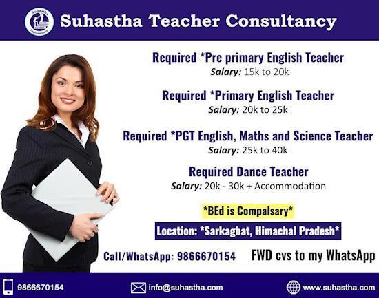 Teacher Job Vacancies in Hyderabad