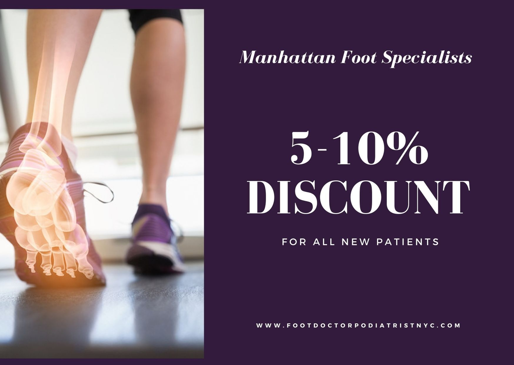 Discount from Manhattan Foot Specialists