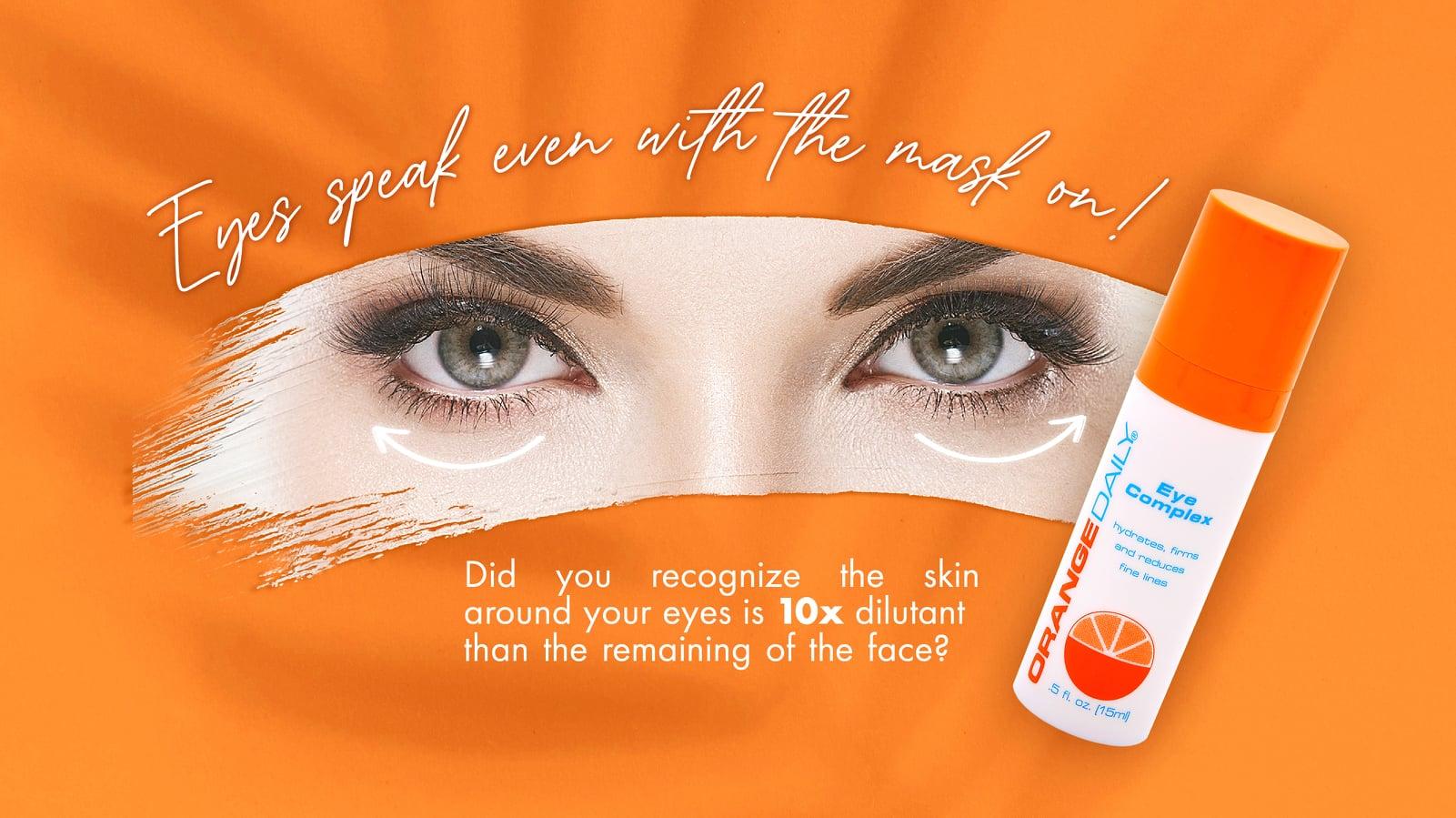 Eye Complex Under Eye Cream | Reduce Fine Lines & Wrinkles | Orange Daily