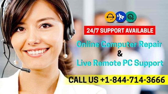 Online computer Repair and live remote PC Support +1-844-714-3666