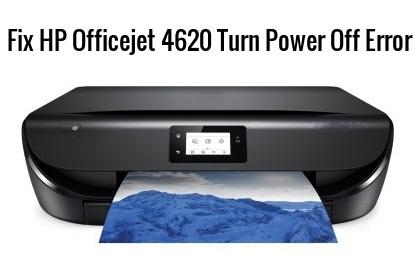 How to Fix HP Officejet 4620 Turn Power Off Error