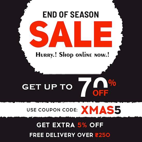 End of Season Sale UP TO 80% + FLAT 5% OFF | Huge Discounts & Fashion Offers