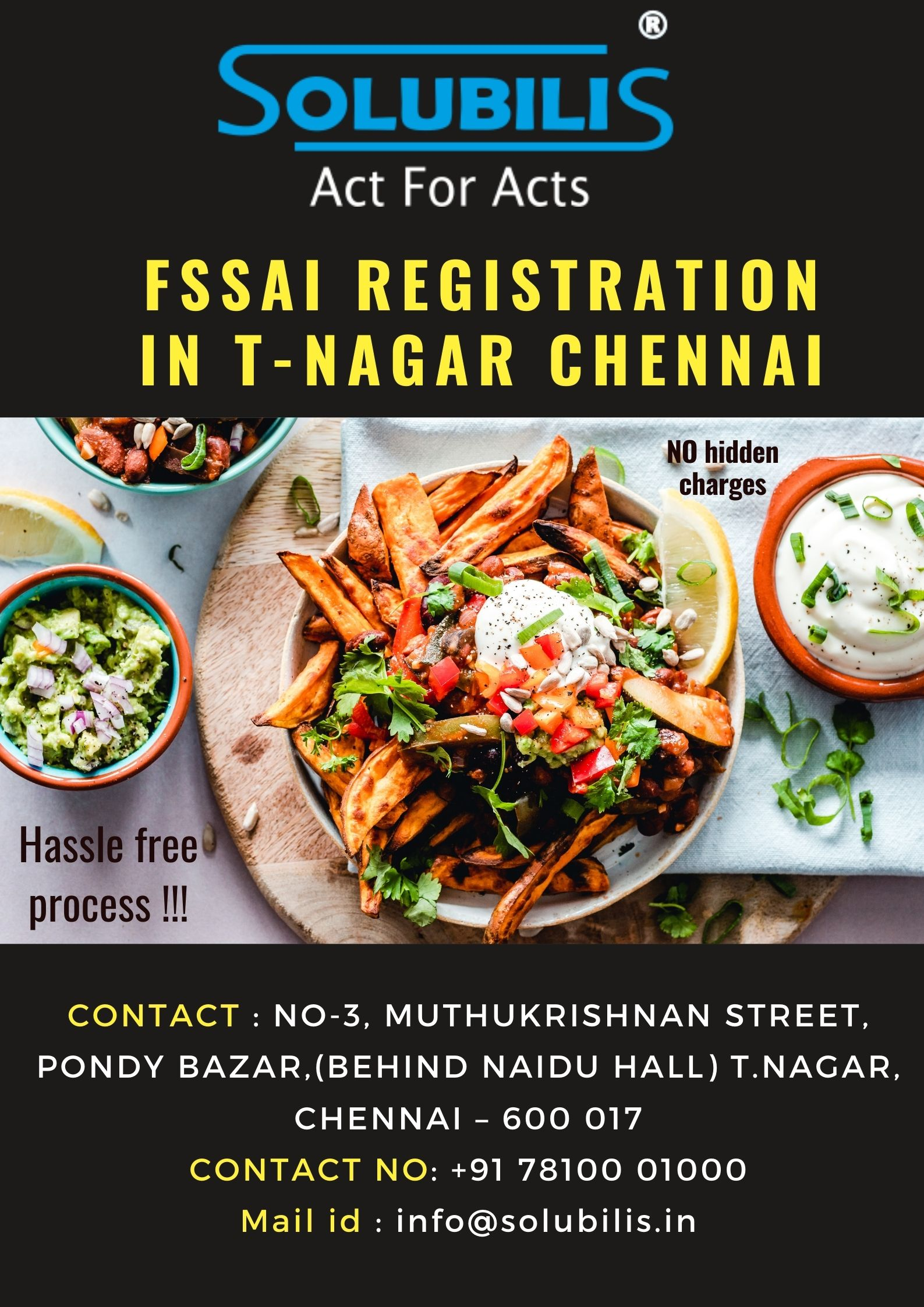 FSSAI registration in Chennai, Basic, state, central FSSAI registration license and renewal/Service Provider in India