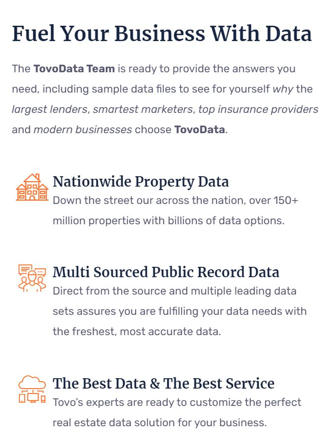 Tovo's Property Data Solutions