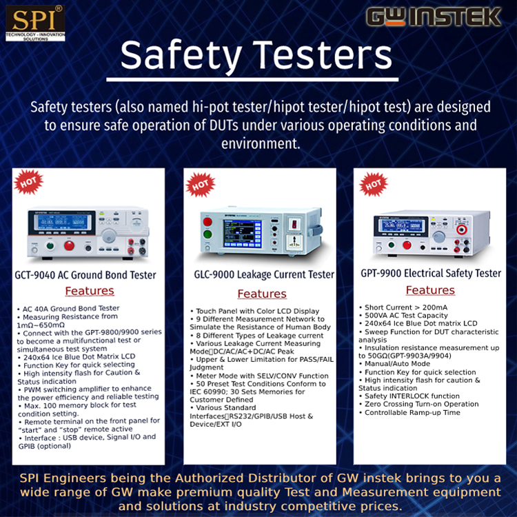 GW Instek Safety Testers in India at Best Price