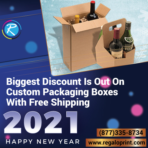 50% New Year Discount Is Out On Custom Packaging Boxes With Free Shipping