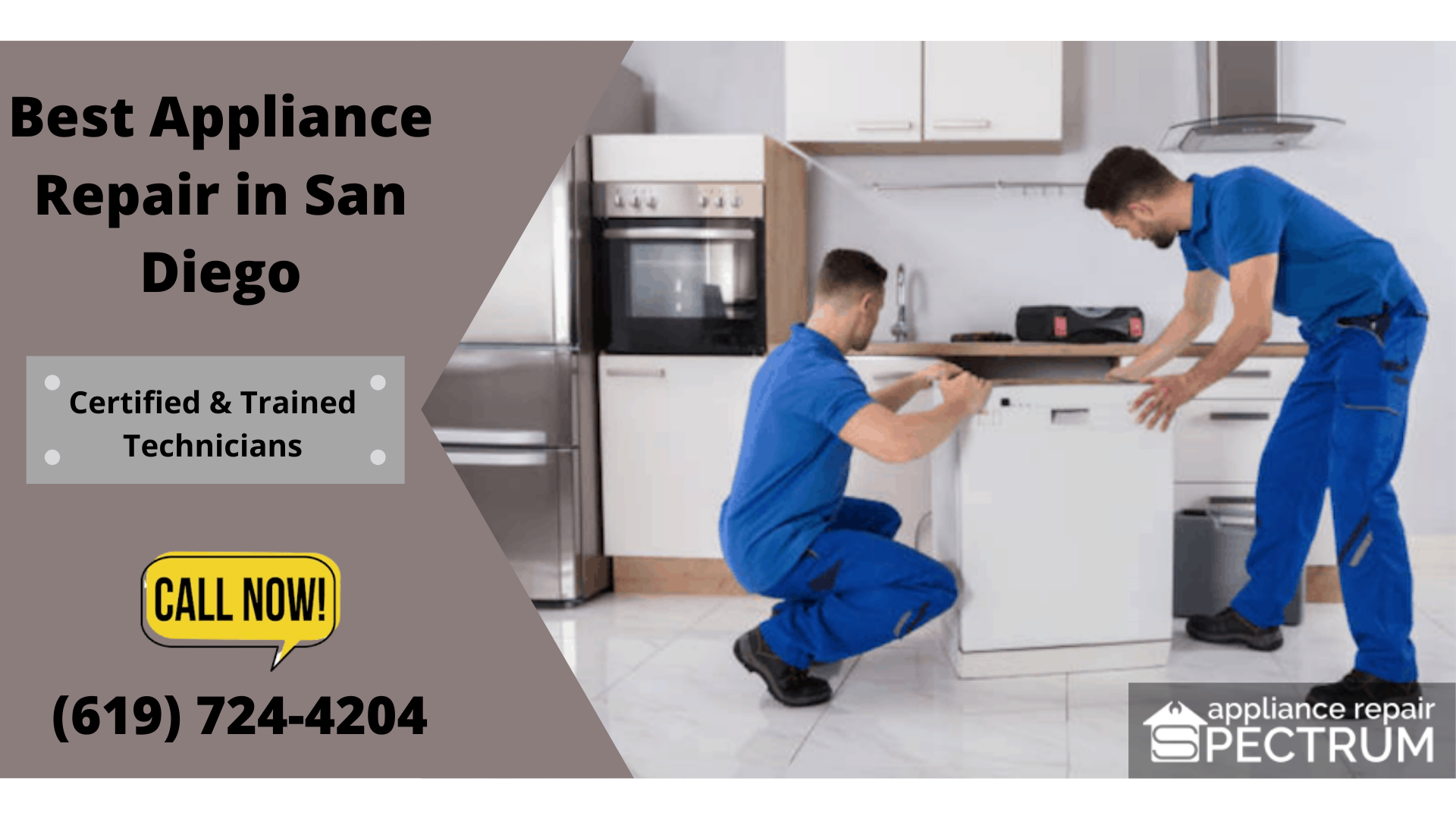 Trained Technicians for Appliance Repair in San Diego