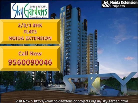Noida extension 2/3/4 Bhk Flats on Lowest Price offers by Shri Radha Sky Garden Greater Noida west