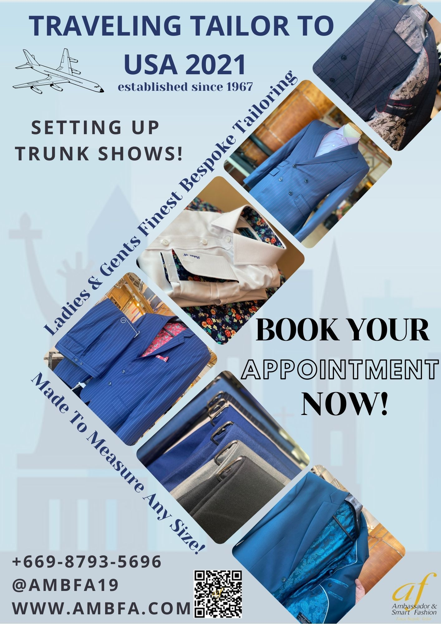 Traveling Professional Bespoke Tailor in USA 2021