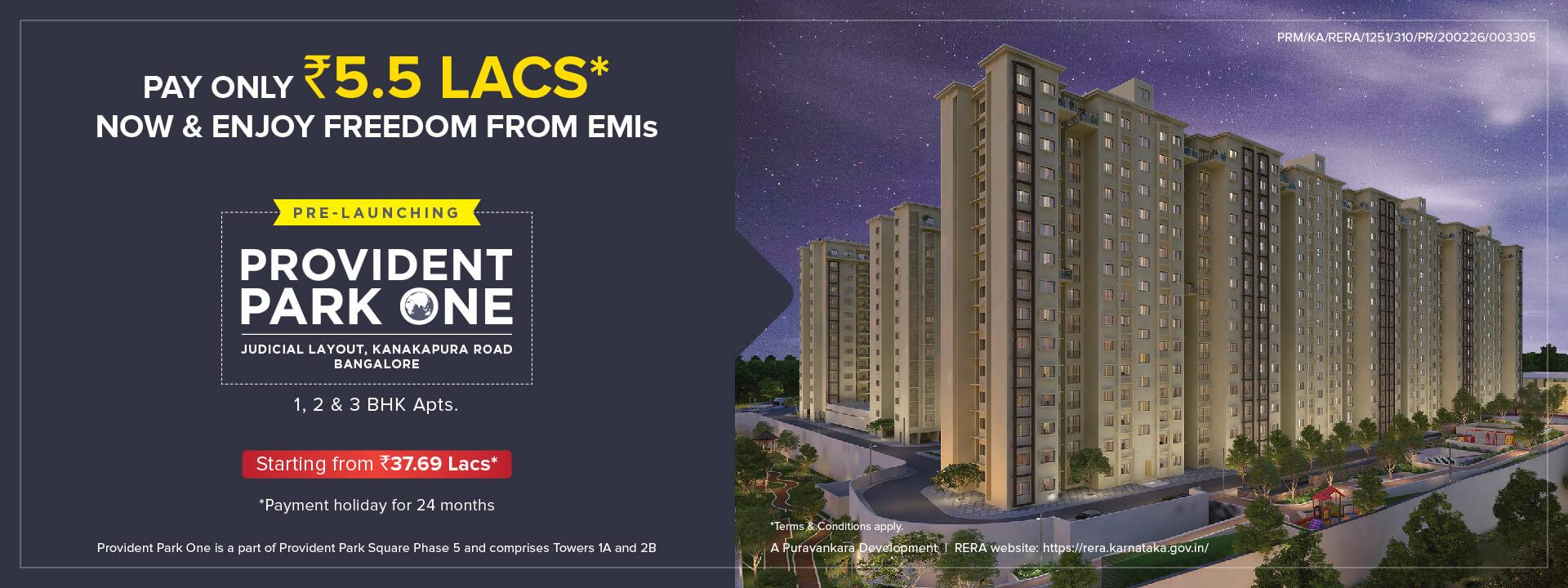 Provident Park One | Apartments for sale in Kanakapura Road, Bangalore
