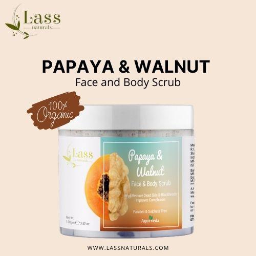 Papaya & Walnut Face and Body Scrub   Buy organic body care products