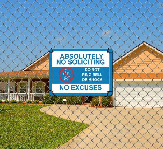 No Soliciting Signs – A polite way to say Thanks but No Thanks