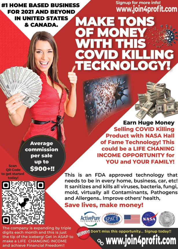 ?? Make Tons of Money with this COVID-killing Technology!!