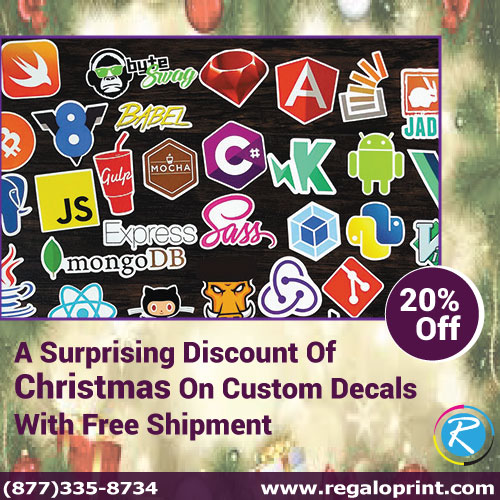 A Surprising 20% Discount Of Christmas On Custom Decals With Free Shipment