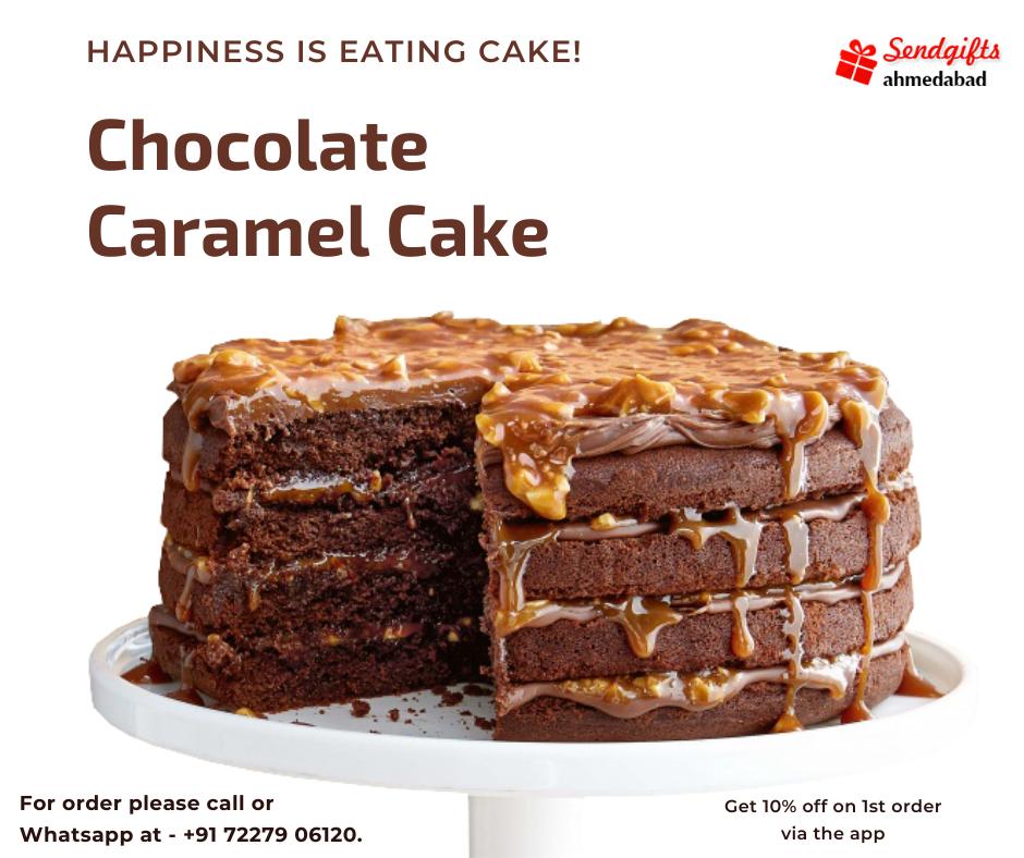 Send Chocolate Caramel Cake in Ahmedabad | Get 10% off on 1st order via App