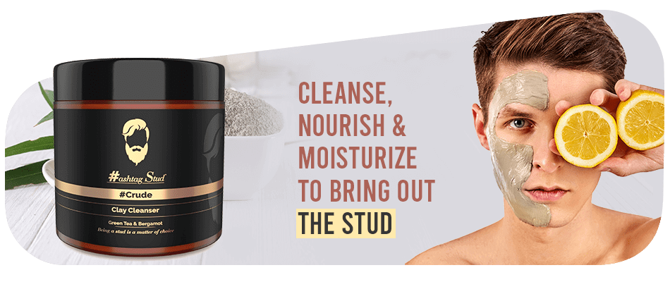 Hashtag Stud Crude Clay Cleanser for Men | Hashtag Stud