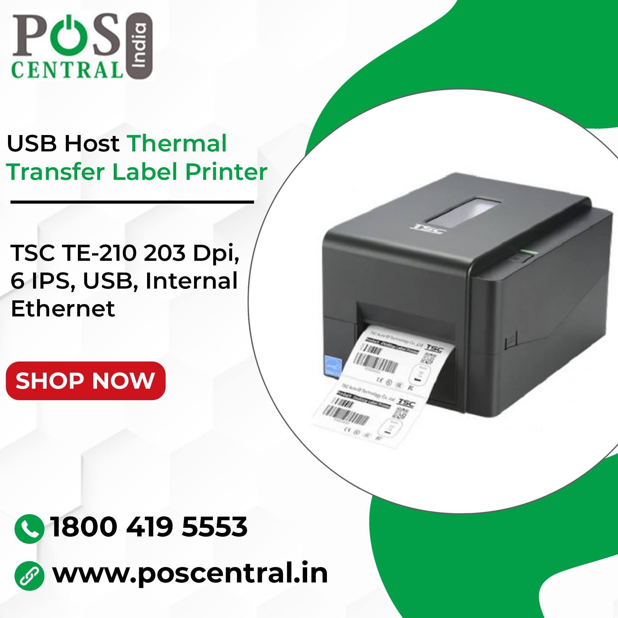 Buy Affordable TSC TE210 203 Dpi Barcode Printer in India