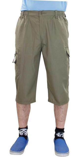 Mens Elasticated 3Q Cotton Shorts