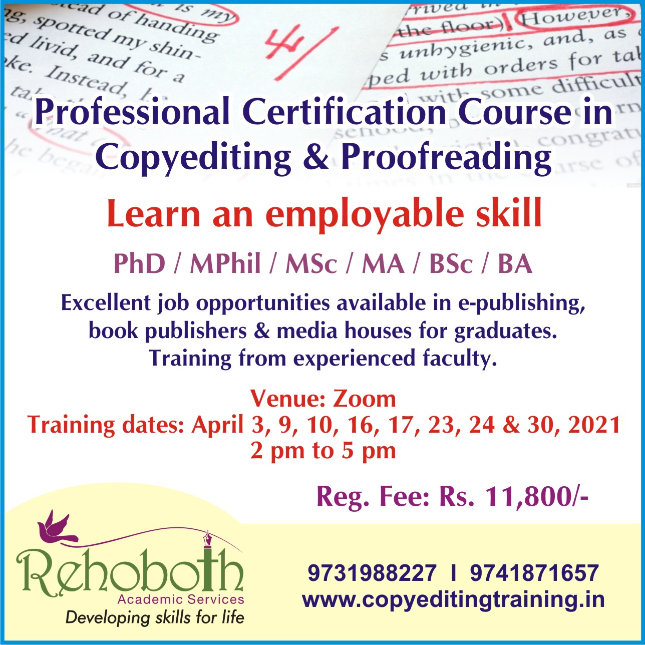 PROFESSIONAL COURSE IN COPYEDITING AND PROOFREADING