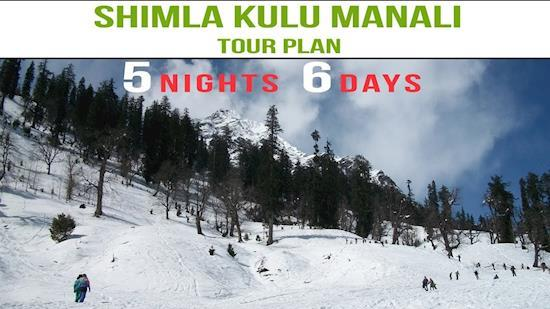 5 Nights 6 Days Shimla Manali Tour Package from Delhi