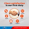 Most of our business comes from referrals of satisfied custo Logo