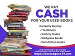 We pay cash for your Used Books