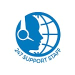 24/7 Support Staff Icon