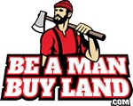 Be A Man Buy Land Icon