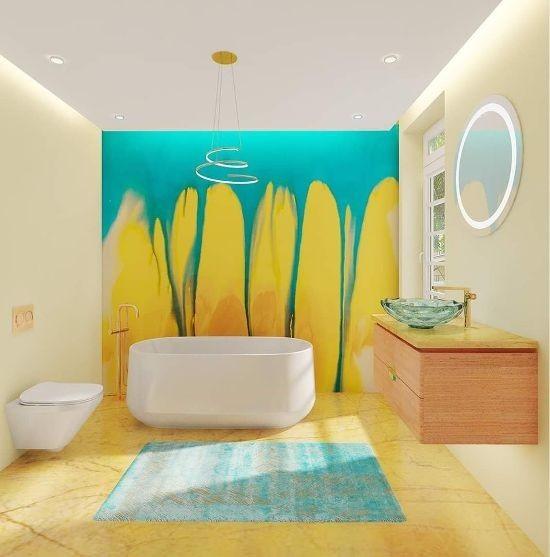 Kohler Africa Colorful Bathroom design