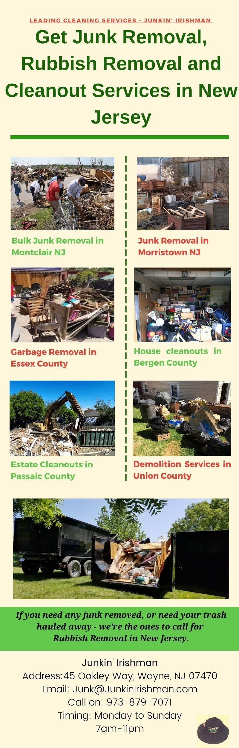 Call for Junk Removal, Rubbish Removal and Cleanout Services in NJ