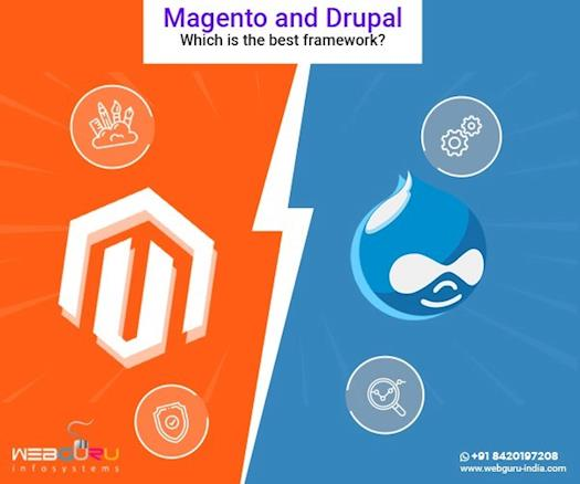 Which is the best framework between Magento and Drupal?