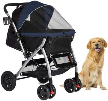 Dog Stroller Navy Blue