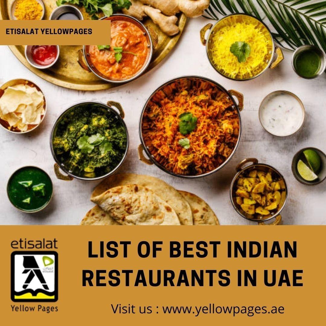 List of Best Indian Restaurants in UAE