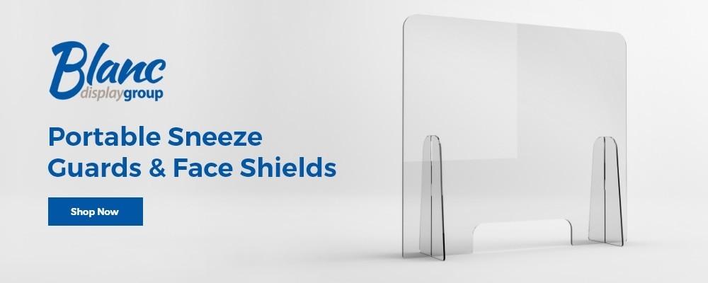 Portable Sneeze Guards _ Face Shields