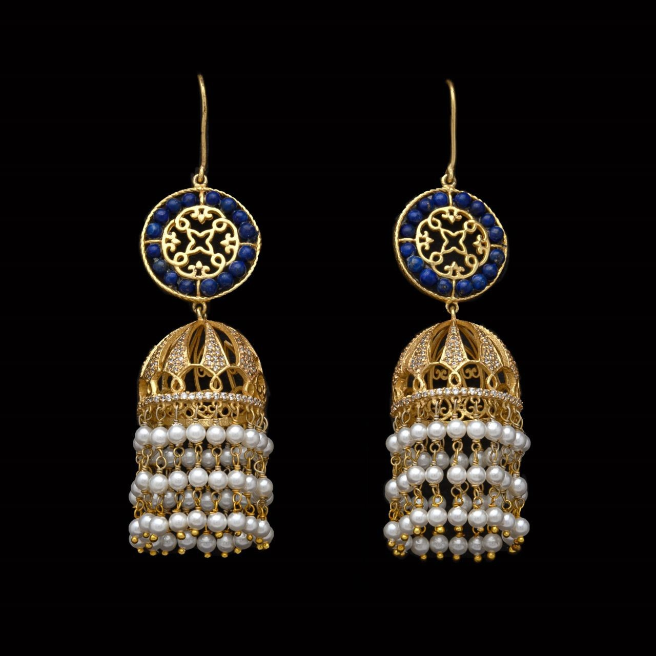 Shop best silver earrings with stone crafting at Mohmaya