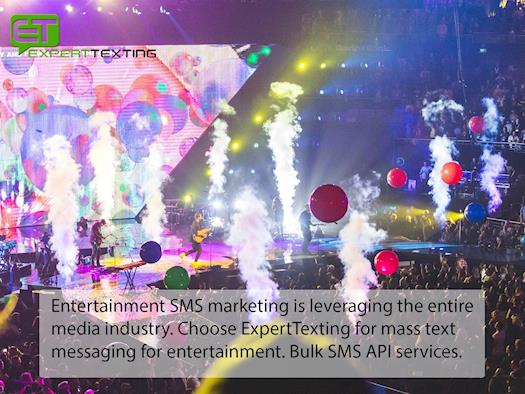 Text marketing services for entertainment business