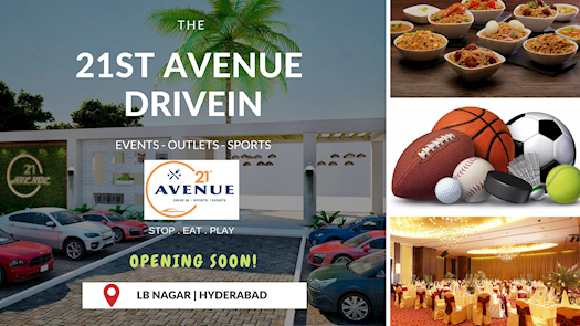 Best DriveIn in Hyderabad - 21st Avenue - Sports|Events|Outlets