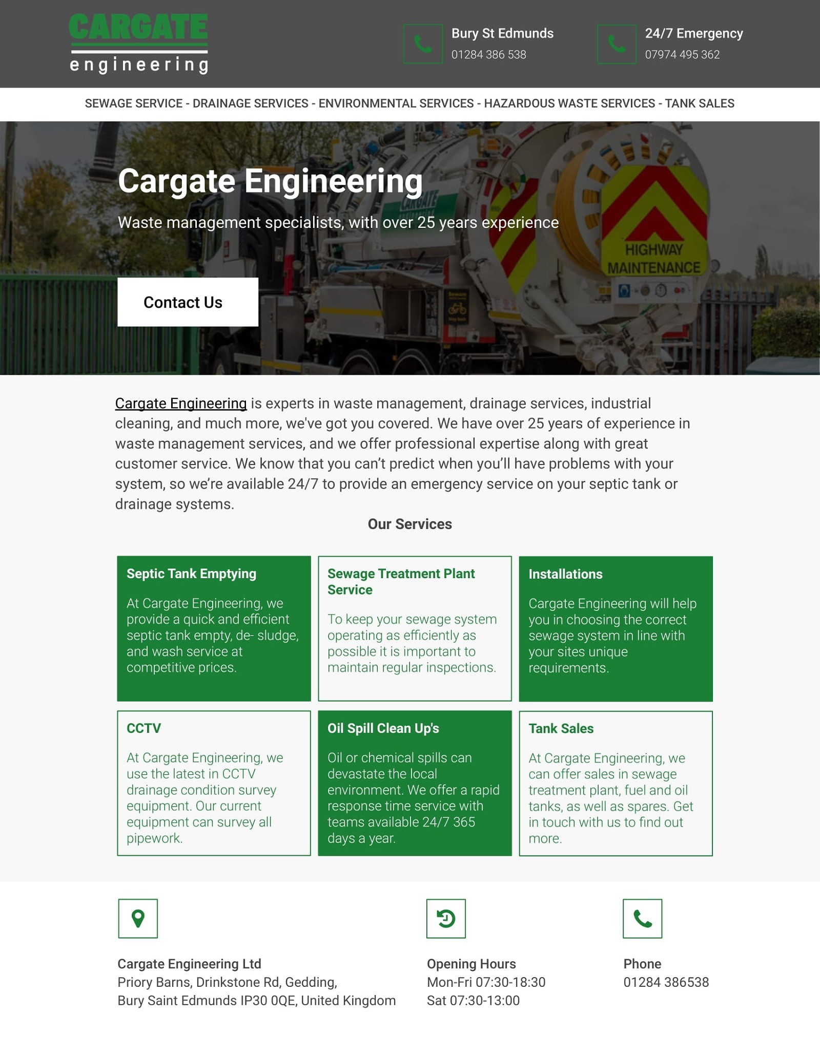 Waste management specialists, with over 25 years experience