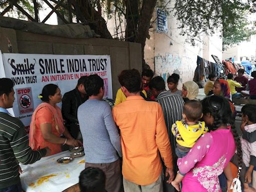 Helping the hungry people -Smile India Trust