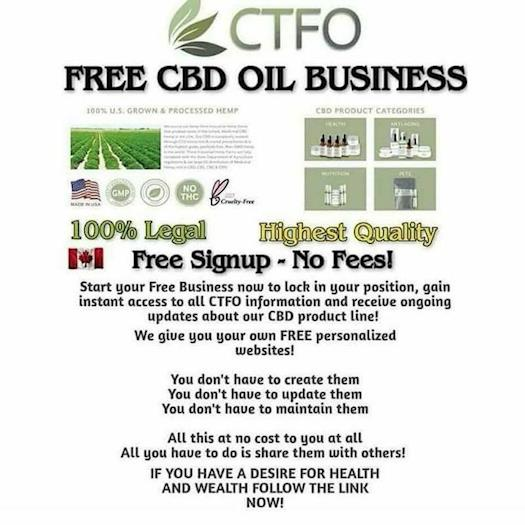 CTFO CBD Oil Free Home Business