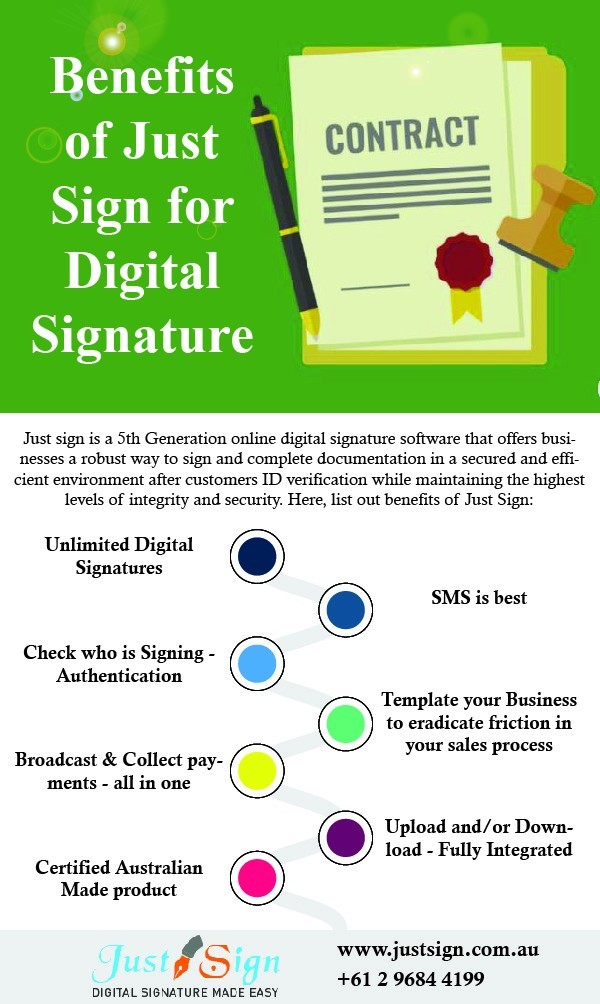 Benefits of Just Sign for Digital Signature