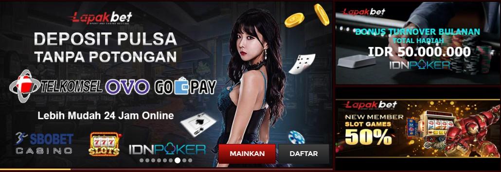 Lapakbet Situs Slot Online Deposit Pulsa Tanpa Potongan