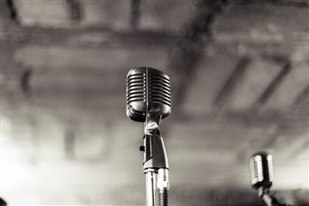 Vintage Music Microphone